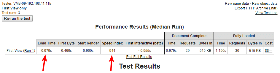 WebPage Speed Test - After