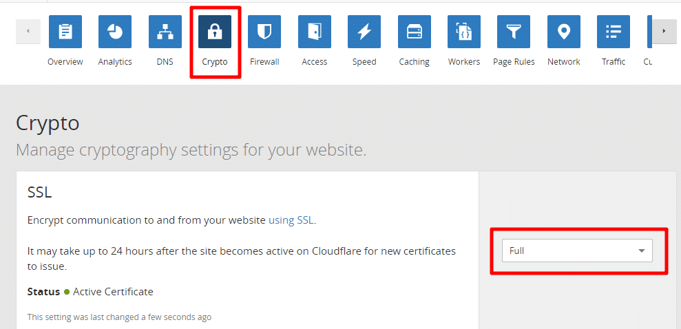 Cloudflare Full SSL