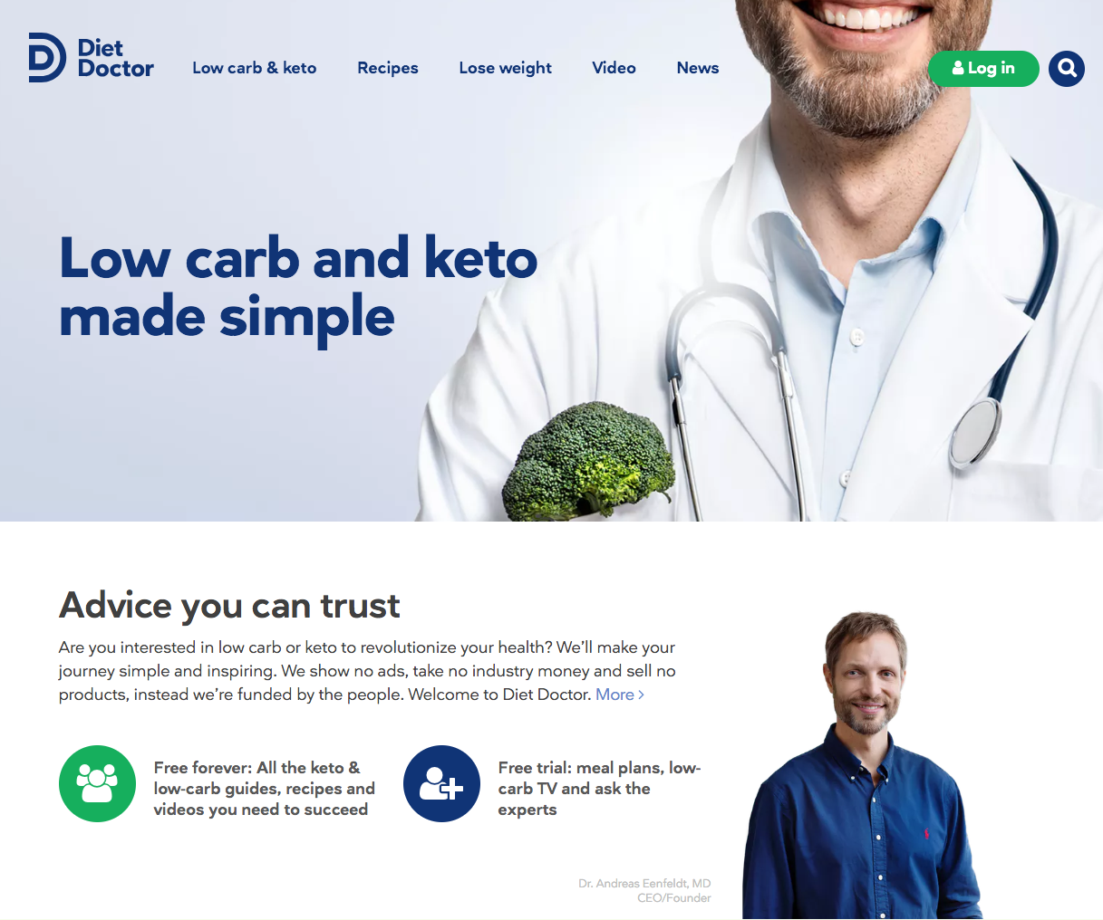 diet doctor homepage