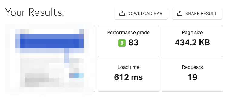 new site speed test
