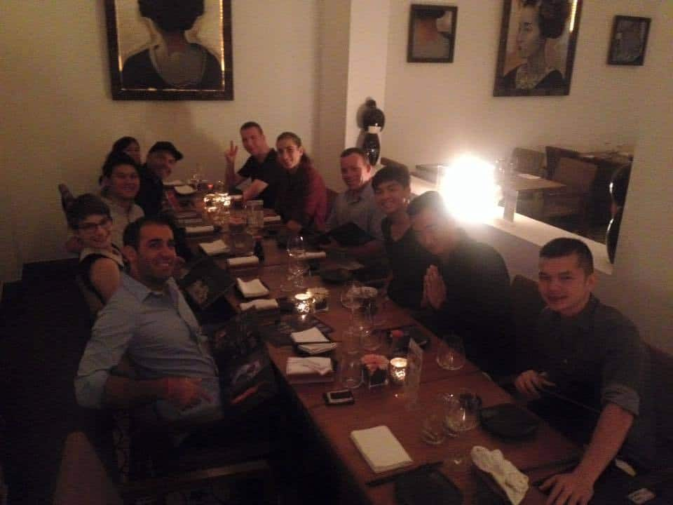 Having dinner with Saigon Crew in 2013